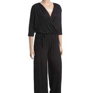 Black Tie-Waist Jumpsuit (NWOT)